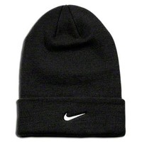 Nike Soccer Replica Beanie: Nike Stock Cuffed Knit Beanie Black/White