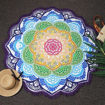 Indian Mandala Tapestry Hippie Wall  Tapestry Boho Beach Bedspreads Cover Up Towel Yoga Mat Blanket Table Cloth Drop Shipping