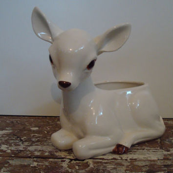Napco Deer Planter by shoppnspree on Etsy