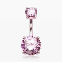 Colorline Gem Prong Sparkle Belly Button Ring