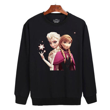 Frozen Elsa and Anna Sweater sweatshirt unisex adults size S-2XL