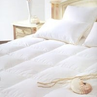 Natural Comfort Classic White Goose Down Feather Comforter, Cal King