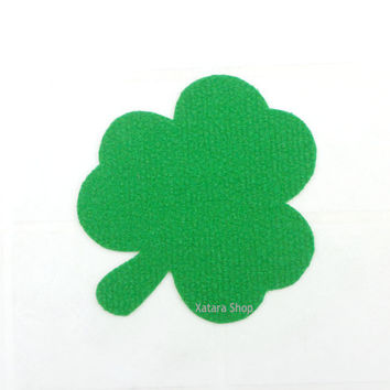 Clover shape rug. Three leafs clover silhouette doormat. St. Patrick's Day