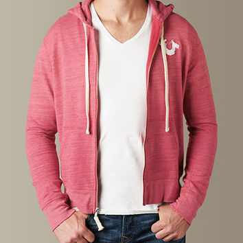 Mens Echo Park Cut & Sewn Hoodie - (3C Red) | True Religion Brand Jeans