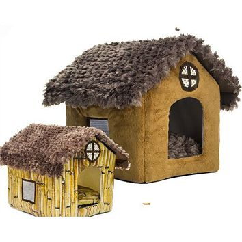 Teddy kennel pet kennel washable cottages Pomeranian Bichon small dog house