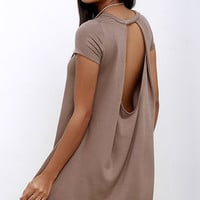 Made You Look Brown Swing Dress