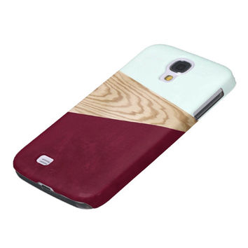 TREND iPhone 5 Case iPhone 4 Case Wood Print samsung Galaxy S4 Case Wood Print iPhone4s Case iPhone Cover iPhone 5C Case Burgundy Sea Foam