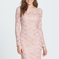 Women's JS Collections Illusion Lace Dress,
