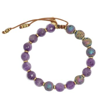 'Healing' Amethyst Essential Oil Diffuser Adjustable Bracelet