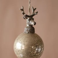 Set of 6 Glass Balls with Deer Christmas Ornaments