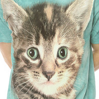 The Mountain Shirt Cat Crewneck in Teal