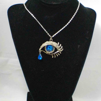 Magic Rhinestone Eye Pendant