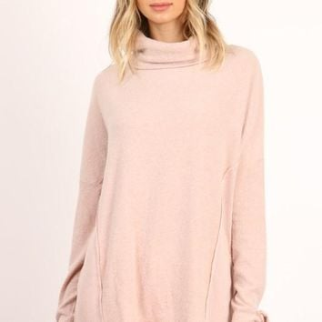 Cowl Neck Tied Sleeve Top