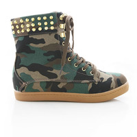In The Army High Top Sneakers