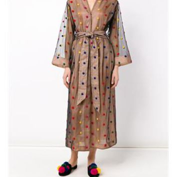 NATASHA ZINKO   Polka-Dot Net Robe   brownsfashion.com   The Finest Edit of Luxury Fashion   Clothes, Shoes, Bags and Accessories for Men & Women
