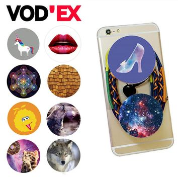 Round  Phone stand  Mount for Smartphones and Tablets Cartoon Animal POP stretch Finger holder Expanding
