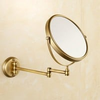 Antique Bronze Copper Elegant 8 Inch Bathroom Mirror Magnifier Beauty Bathroom Mirror Bathroom Hardware Set Wall Mount