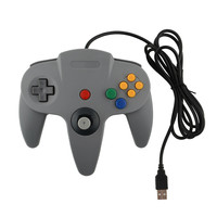 New USB Game Wired Controller Joypad Joystick Gaming For Nintendo N64 PC Grey