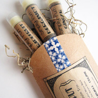 Organic Lip Balm Trio - Simply Put - Simple Flavors Lip balm Set