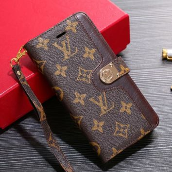 5a2a39603164 LOUIS VUITTON Leather Wallet Case for iPhone X XR XS MAX 6 6s 6p
