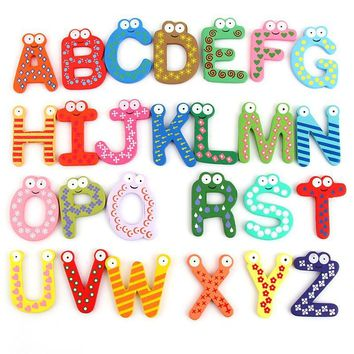 Color Novelty Fridge Magnets Cartoon MagNICI/Lovely English alphabet magnet 26 PCS Set