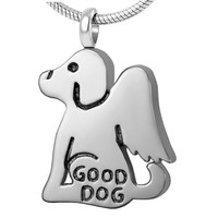Good Dog Pet Cremation Pendant Necklace