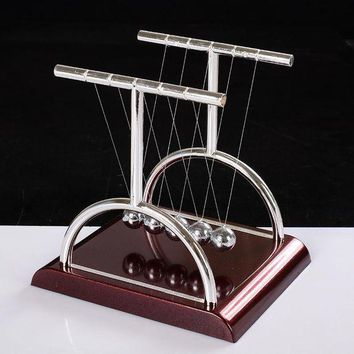 DCCK8NT new design t newtons cradle metal balance pendulum ball physics science desk model toy educational teaching accessory gift 3size