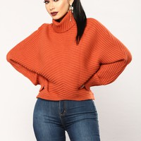 Bartlett Oversized Sweater - Rust
