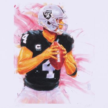 Derek Carr Raiders 11x14 Limited Edition Fine Art Print by John Yim