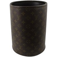 60's Louis Vuitton Vintage Monogram Canvas Paper Bin. Fair condition