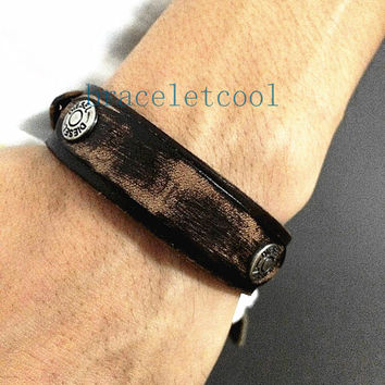 Real Soft Leather Cuff Bracelet,Women Leather Jewelry Bangle Cuff Bracelet Men Leather Bracelet RC7