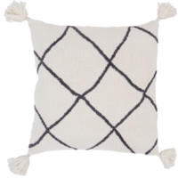 Braith Pillow I ~ Cream/Charcoal
