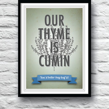 Kitchen art, Poster, Wall decor, Housewarming gift, Inspirational print, Quote print, Typography poster