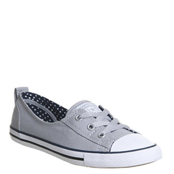 Converse Ctas Ballet Lace Wolf Grey Navy White - Hers trainers