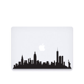 NYC Skyline-----Macbook Decal Macbook Sticker Mac Decal Mac Sticker Decal for Apple Laptop Macbook Pro / Macbook Air / iPad/MINI