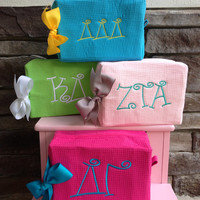 Sorority Large waffle cosmetic bag