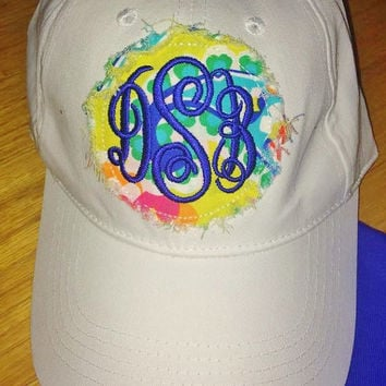 Raggedy Monogrammed Applique Ladies Hat