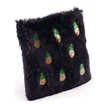 Black & Gold Pineapple Pillow
