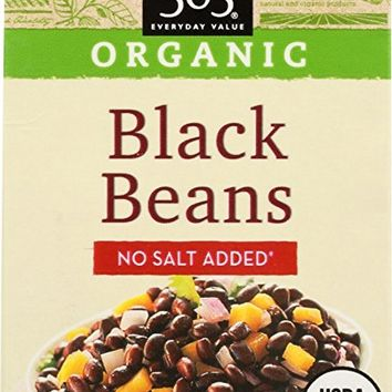 365 Everyday Value, Organic Black Bean No Salt Added, 13.4 oz