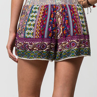 PATRONS OF PEACE Border Print Womens Shorts | Shorts
