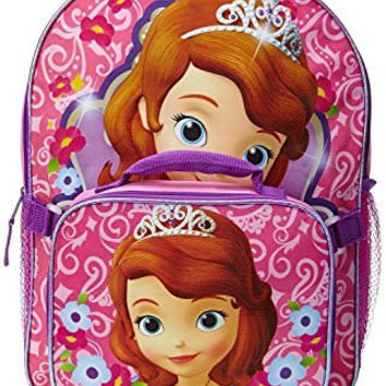 Disney Junior Sofia the First Backpack and Detachable Lunch Box