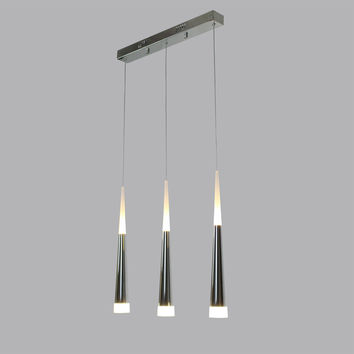 UNITARY BRAND Modern Stainless Steel LED Pendant Light Max 21W With 3 Lights Plating Finish