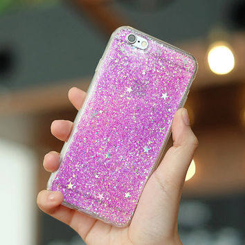 Lavender - glitter case iphone 7 plus case iphone 7 case iphone 6s Plus case iphone 6s case iphone 6 Plus case iPhone 6 case samsung case