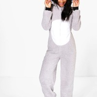 Emma Koala Hood Zip Up Fleece Onesuit