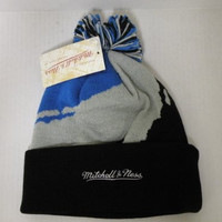 Mitchell and Ness NBA Orlando Magic 3 Tone Cuffed Retro Knit Beanie Cap with Pom
