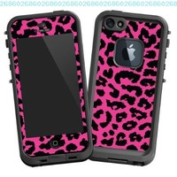 "Pink Leopard ""Protective Decal Skin"" for LifeProof fre iPhone 5/5s Case"