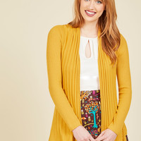 Officewear Official Cardigan in Curry | Mod Retro Vintage Sweaters | ModCloth.com