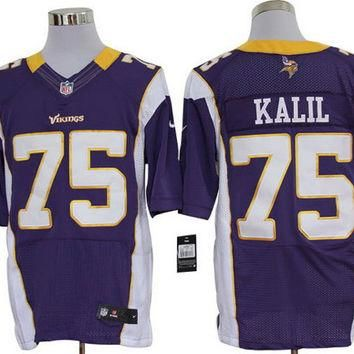 Nike Vikings #75 Matt Kalil Purple Team Color Mens NFL Elite Jersey