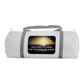 Global Photo Quote by Kat Worth Gym Bag