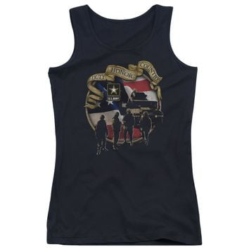 Army - Duty Honor Country Juniors Tank Top